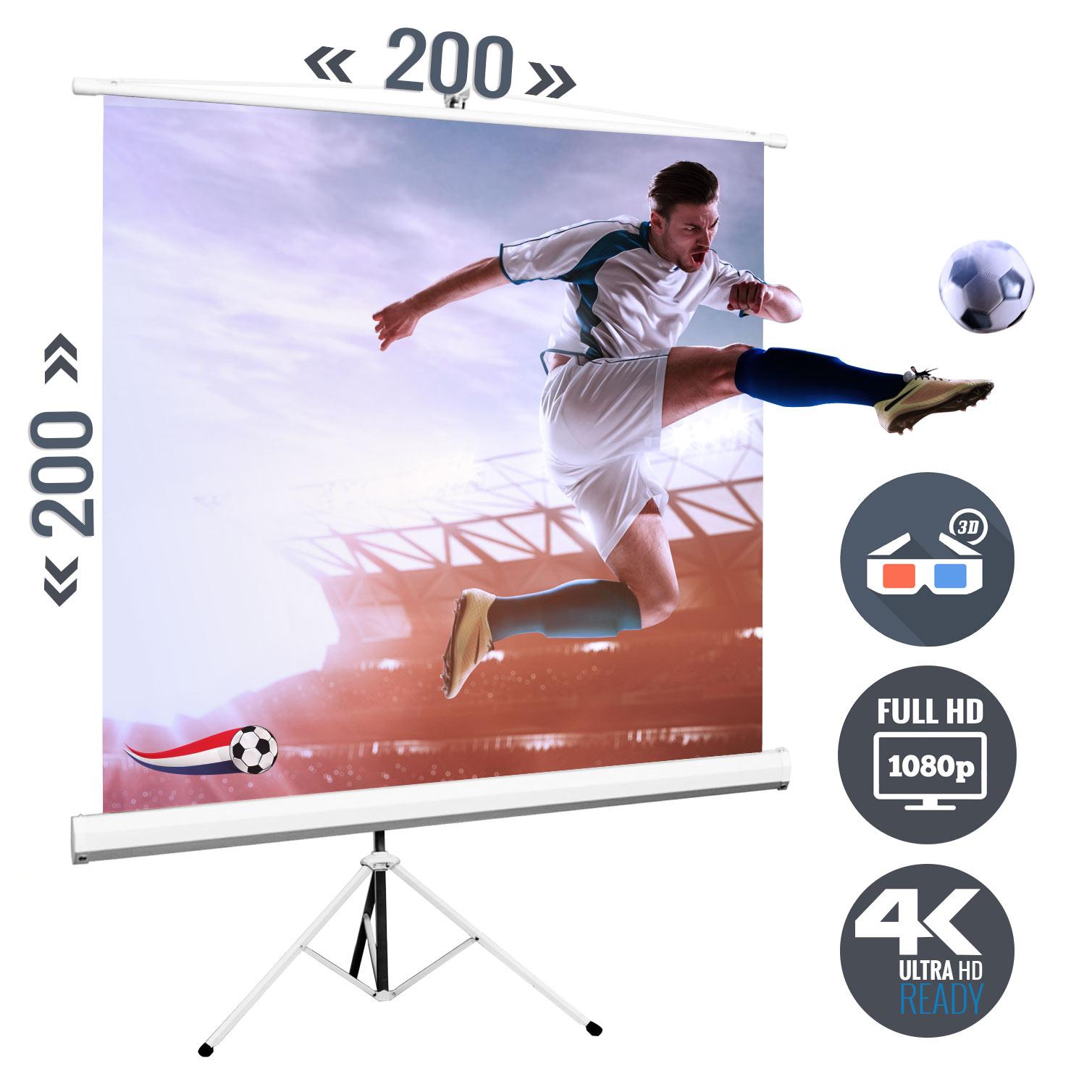 Stativ Beamer Leinwand 200x200 cm